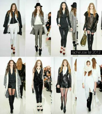 rachel zoe fall rtw 2012 favorites collage
