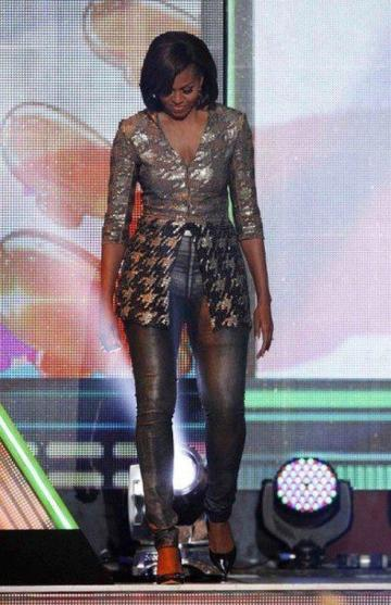 michelle obama nickelodeon kid's choice awards 2012 wes gordon top helmut lang skinny jeans 1