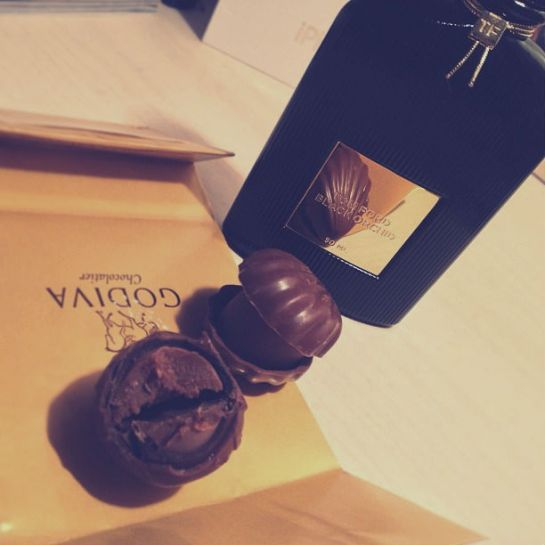 godiva chocolates & tom ford black orchid