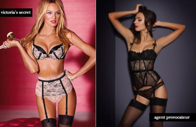 valentine's day gift guide - victoria's secret vs agent provocateur lingerie
