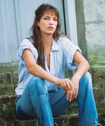 Jane Birkin, 60s and 70s flower child, boho chic, style icon, muse