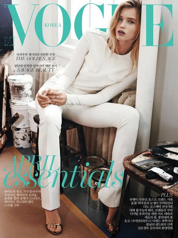 Vogue Korea, Abbey Lee Kershaw, Ralph Lauren Spring 2015 1