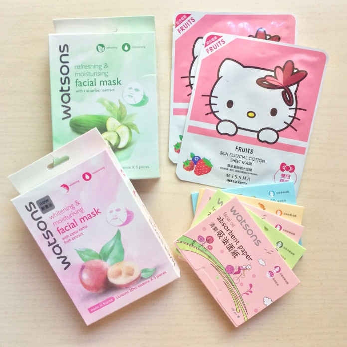 japanese skincare asian beauty haul watsons sheet masks