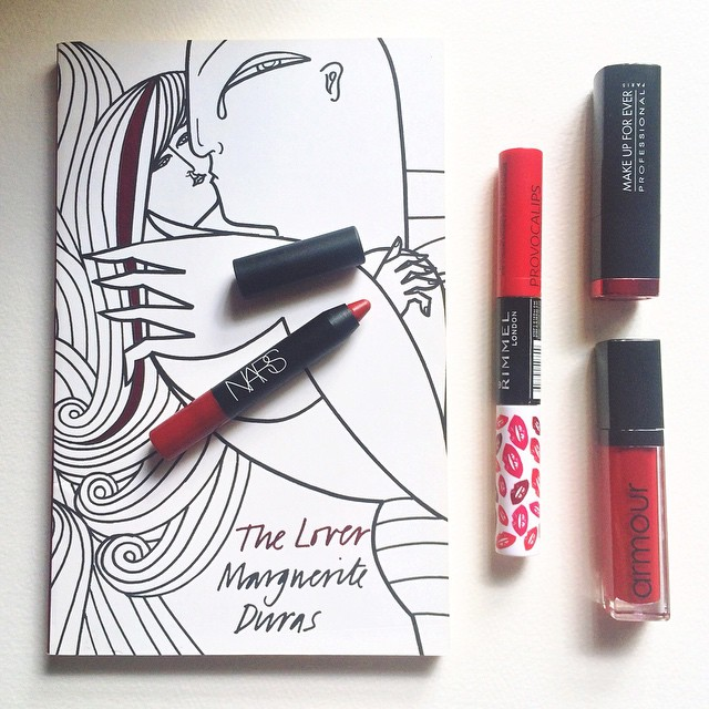 the lover marguerite duras red lipstick